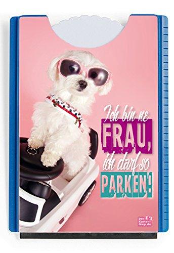 Der-Karten-Shop.de Fun Spaß Motiv Parkscheibe mit Eiskratzer und Gummilippe Malteser HundIch Bin ne Frau, Ich darf so parken!