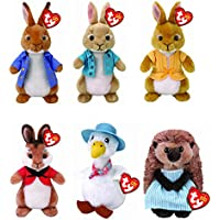 TY Beanies Full Set Of 6 Peter Rabbit Collection Soft Toys