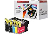 5er Set Tintenpatronen kompatibel zu LC-225XL / LC-227XL Brother DCP-J 4120 DW, MFC-J 4420 DW / MFC-J 4425 DW / MFC-J 4620 DW / MFC-J4625 DW / MFC-J 5320 DW / MFC-J 5620 DW / MFC-J 5625 DW / MFC-J 5720 DW, Schwarz je 20ml, Color (C, Y, M) je 10ml