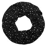 SoulCats süßer Loop mit kleinen Sternen weiß schwarz rot gelb, Farbe:schwarz/weiß