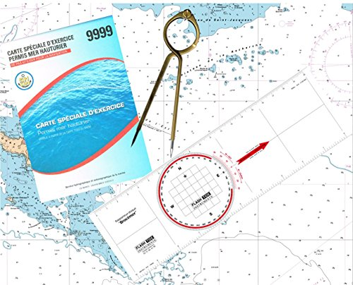 flash-tide-pack-permis-hauturier-plus-carte-regle-rapporteur-compas-lyre