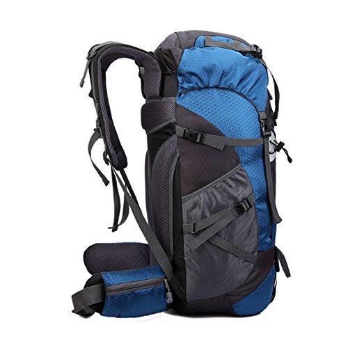 OSOPOLA groß 50L Wander Zelten Outdoor Sport Rucksack Wasserbeständigkeit Tagesrucksack Reisen Racksuck für Neu Damen mit internem Rahmen Rot