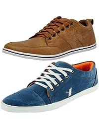 T-Rock Men's Blue Denim Sneaker Shoes