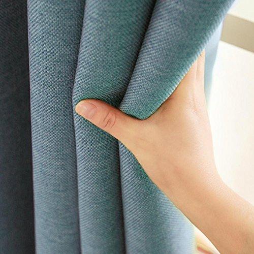 Tende oscuranti tenda tinta unita prodotto finito cotone e lino soggiorno camera ispessimento lino panno su misura per finestre pavimento al soffitto