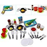 """deAO Kinder-Küchenspielset """"My Little Chef""""(""""Mein kleiner Koch"""") mit 30-teiligem Zubehör in den Farben Rot oder Pink erhältlich - 3"""