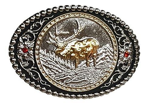 Modestone Metal Trophy Boucle Moose 3 3/4'' X 2 1/2''