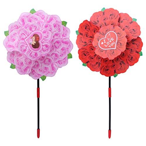 Tandou Rose Blume Windmühle Windspiel Whirligig Rad Home Yard Party Decor Kinder Spielzeug