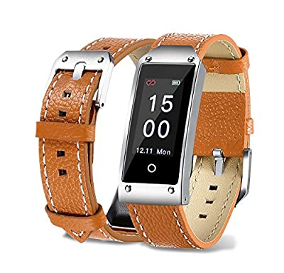 TechCode Color Screen IP67 Waterproof Blood Pressure & Heart Rate & Sleep Monitoring Wristband Bracelet, Calorie Counter Pedometer Sports Smart Watch for Activity Tracker for Android and IOS from TechCode