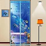 3d magic sticker vorhang/anti-mosquito vorhang/silent,magnetische,garn vorhang/schlafzimmer,sommer,wand schirm vorhang-N 80x200cm(31x79inch)