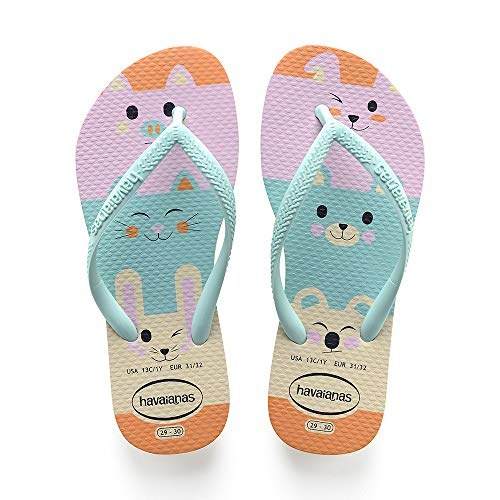 Havaianas Slim Fun, Chanclas Niñas, Multicolor Beige