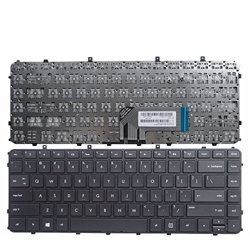 New Laptop Keyboard with Frame Compatible with HP Envy Ultrabook 4-1005xx 4-1015dx H4-1017nr 4-1019wm 4-1030ca 4-1030us 4-1038nr 4-1043cl 4-1050ca 4-1130us, US Layout Black Color 1030us Notebook Pc