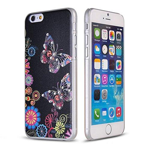 UKDANDANWEI Apple iPhone 5S Hülle Case - Bling Strass Ultra Dünn Hart PC Hülle Glitzer Rückseite Slim Etui Schale für Apple iPhone 5S -27 Bling-19