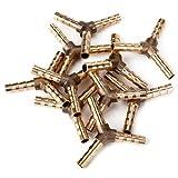 DN Oro Y Forma 3 Formas de latón Conector adaptador 6mm Diamater (paquete de 10)