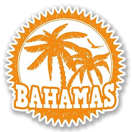 2x Bahamas Vinyl Aufkleber Aufkleber Laptop Reise Gepäck Auto Ipad Schild Fun # Gartenhandschuhe - 10cm/100mm Wide