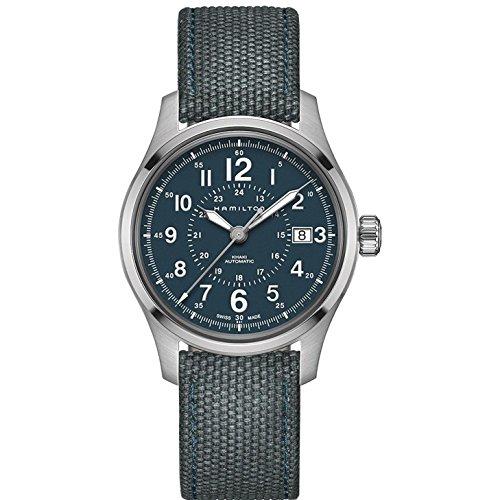 Hamilton da uomo khaki Field 40mm Blue nylon Band orologio automatico H70305943