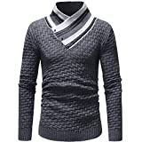 Sannysis Herren Slim Fit Hoodie Langarm Herbst Winter Spleißen Sweatshirt Top Bluse Jersey Stricken