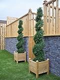 2Künstliche (TM) 5ft 150cm zeder Spirale formschnittbäume Alt Buchsbaum * * UV-Verblassen geschützt * *