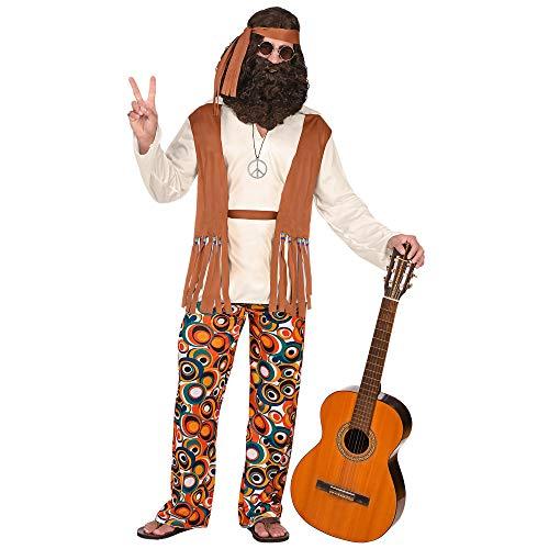 Kostüm Herren Xxl - Widmann 02590 Erwachsenenkostüm Hippie, Herren, Mehrfarbig