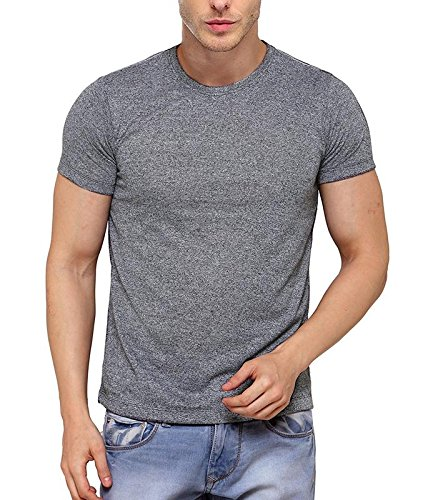 B&W Men's Premium Grindle Round Neck T-Shirt - Charcoal 6