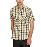 Wajbee Men's 100% Cotton Casual Half Shi...