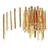 BOGATECO Haselnuss Roll-Steckzaun aus Holz | 35cm Hoch & 500cm Lang | Holz-Zaun | Lattenabstand 7-8cm | Staketenzaun Perfekt als Beet-Umrandung oder Weg-Abgrenzung