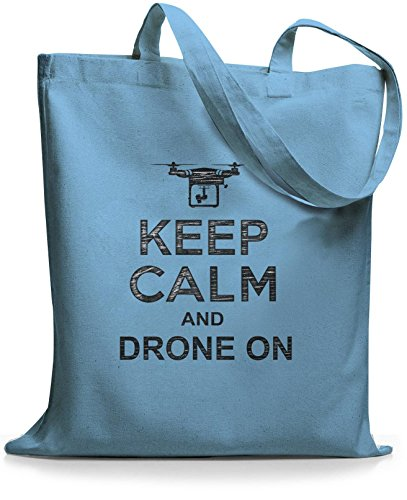 StyloBags Jutebeutel / Tasche Keep Calm and drone on Sky