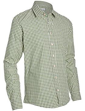 Almsach Herren Trachtenhemd Slim Fit LF178 olivgrün