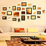 Allright Multi Picture Photo Frames DIY Home Wall Decoration Wooden Frame Set Of 26PCS Black And White
