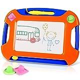 TTMOW Verdicktes Zaubertafel Kinder Maltafel für Kinder ab 2 ab 3 mit Magnetische Stempel, Lerntafel Reißbrett Kindergeschenk, Hinzugefügter Bereich für Malerei (Orange)