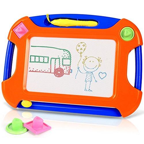 TTMOW Verdicktes Zaubertafel Kinder Maltafel für Kinder ab 2 ab 3 mit Magnetische Stempel, Lerntafel Reißbrett Kindergeschenk, Hinzugefügter Bereich für Malerei -