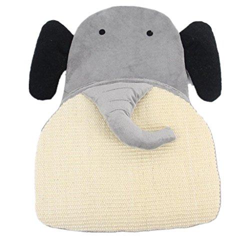 Generic Gattino Scratch Pad Tappeto Sisal Scratcher Cogliere Bordo Postale Erba Gatta Letto - Elefante
