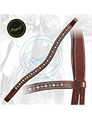 Royal Designer Brown & Crystal linked U-Shaped Crystal Brow Band.