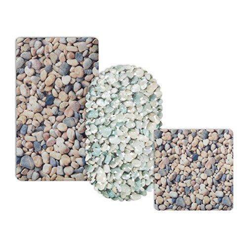 casa pura® Wanneneinlage Stone   Steinoptik   schadstoffgeprüft   als Badewanneneinlage und Duschmatte erhältlich   3 Größen   rechteckig (69x40 cm)