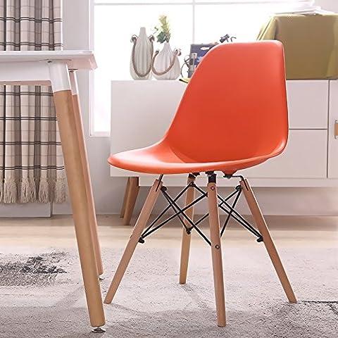 Le sedie in plastica minimalista moderno scrivania con sedia sgabello