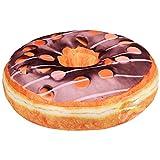 Donut Kissen Glasur 40 cm Durchmesser (Ki-4 Schoko Drops)