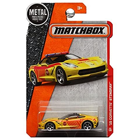 Matchbox 2016 Heroic Chevrolet Corvette Stingray Fire Rescue in Yellow by Mattel