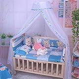 Zanzariera per lettino, culla Hanging Bismarckbeer traslucido letto a baldacchino compensazione tenda Kids 'Room Decor, Blue, taglia unica