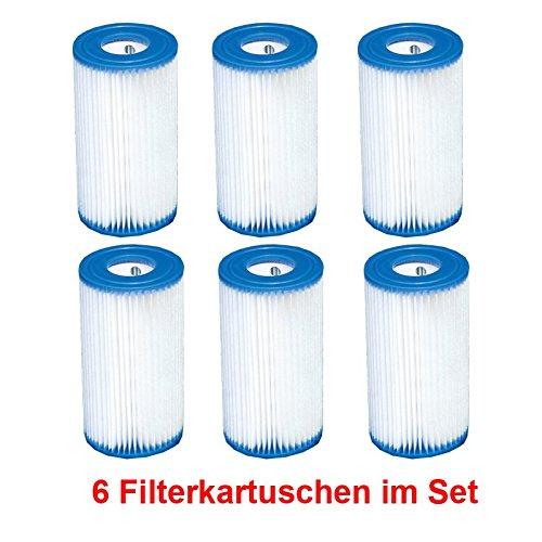 Intex Pompa di cartucce filtranti tipo A 6pezzi per pulizia piscina Pool Piscina pompa filtro cartuccia filtro