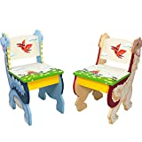 Fantasy Fields by Teamson Dinosaur Kingdom Childrens Wooden Toddler Playtime 2 Chair Set TD-0079A/2 on