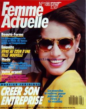 FEMME ACTUELLE [No 186] du 18/04/1988 - ...