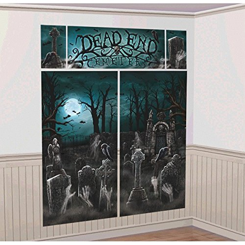 Amscan International 670449 Friedhof Wand Dekorieren Kits (Halloween Fiesta Usa)