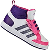 ADIDAS NEO HOOPS MID CMF KINDERSCHUHE BABY SCHUHE F97857 WEISS PINK LILA 22 - 27, Schuhgröße:EUR 25;Farbe:Weiß