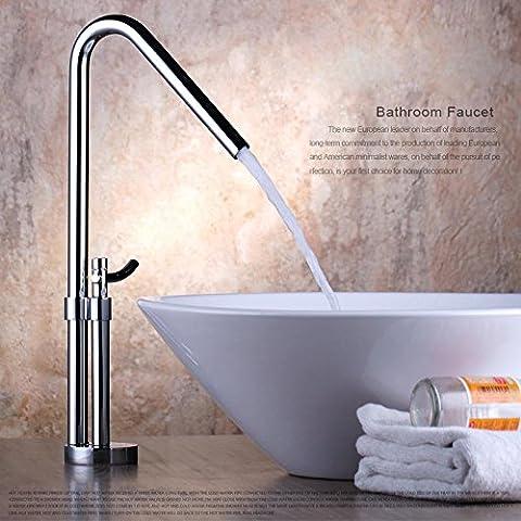 JinRou moderno/lusso contemporaneo lavello tocca 360 di rame rotante a caldo e a freddo per wc rubinetto altezza sopra il bacino del contatore-wide a caldo e a freddo per wc rubinetto rubinetti