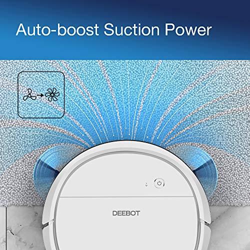 ECOVACS DEEBOT OZMO905, Aspirateur robot, Navigation Laser, Robot Aspirateur Laveur 2-en-1, Boost auto, Barrières Virtuelles, Mode Personnalisé, Connecté Appli et Alexa, Idéal tous sols (Blanc)