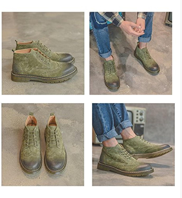 HL-PYL-nuevas botas cortas, Coreano zapatos, zapatos, botas, botas y Martin botas,42,verde militar
