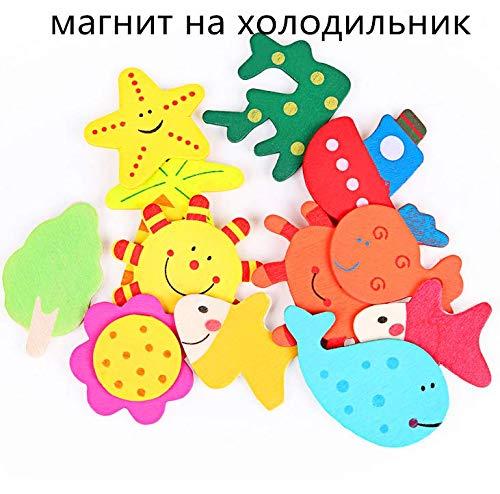mxjeeio 12 PCS Cartoon Tier Holz Magnetische Kühlschrank Baby Pädagogisches Spielzeug Magnet für Lernen & Bildung - Kid Baby Pädagogisches Spielzeug - Pädagogisches Kühlschrankmagneten (Kühlschrank-magnete Lernen)