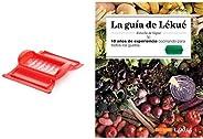 Lékué Estuche de vapor con bandeja, 1-2 personas, color rojo + Recipiente para cocinar tortillas francesas en