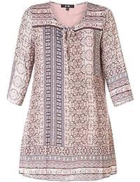 24504d727703 Tunika Damen große Größen A-Linie in Rosa Braun von x-two Shirt Oberteil
