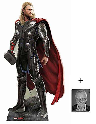 Thor (Chris Hemsworth) Avengers Age of Ultron Marvel Lebensgrosse Pappaufsteller mit 25cm x 20cm foto (Ausschnitte Pappe Promi)