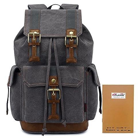 KAUKKO Leinwand Rucksäcke Laptop Schultasche Rucksack mit Großer Kapazität